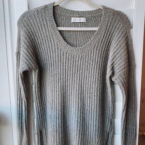 Abercrombie & Fitch- Grey/Tanish knit sweater